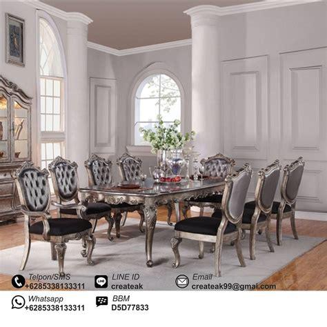 Kursi Bayi Informa set kursi makan rococo silver createak furniture