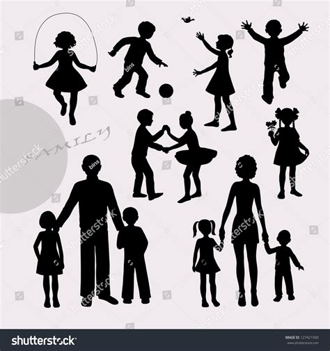 Free Search For Peoples Address Silhouettes Of Children And Peoples Stock Vector Illustration 127421930