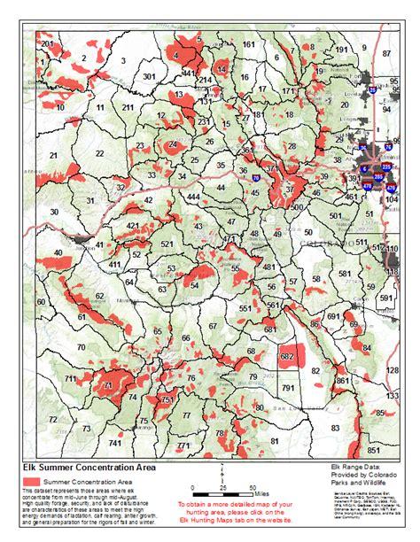 colorado elk population map statewide elk maps start my hunt