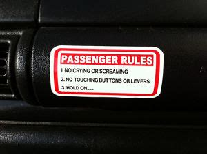 Kaos Jeep My Car Rule passenger sticker car 4x4 4wd offroad