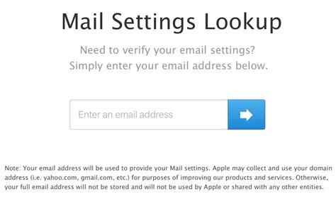 Mail Address Lookup Check Your Email Settings With Apple S Mail Settings
