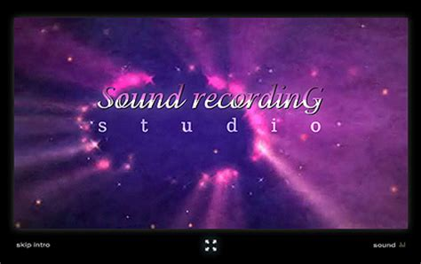 sound recording flash intro template id 300110616 from