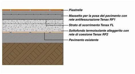 stratigrafia pavimento reti e membrane nella realizzazione di pavimenti
