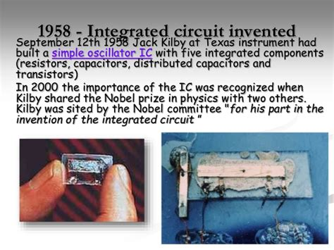 what year was integrated circuit invented integrated circuits