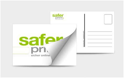 Postkarten Aufkleber Drucken by Safer Print Postkartenaufkleber