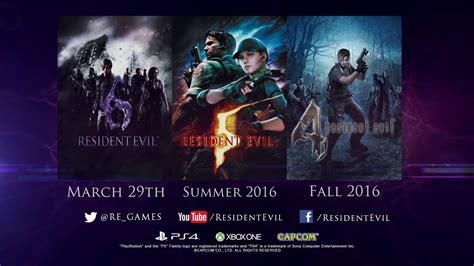 Ps4 Residen Evil 6 Ori resident evil 4 5 and 6 announced for ps4 and xbox one