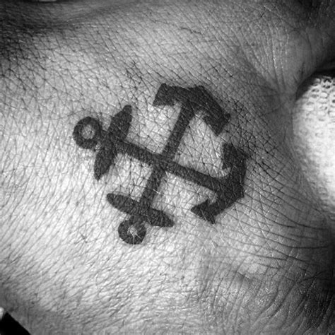 crossed anchors tattoo 60 small tattoos for masculine ink design ideas