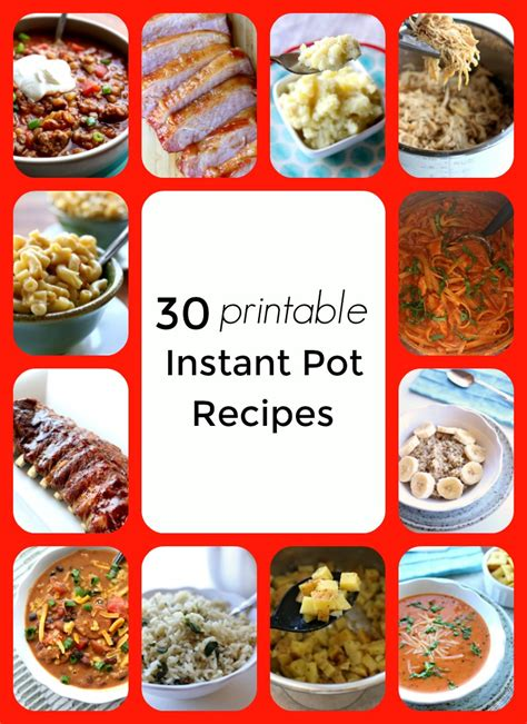 Printable Recipes For Instant Pot | 30 printable instant pot recipes cover 365 days of slow