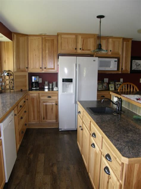 rustic kitchen appliances rustic country kitchen in hickory traditional other
