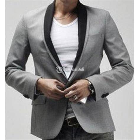 Blezer Pria Keren Warna Abu Tua korean blazer slim fit pria warna abu abu mode terbaru harga murah jogja dijual tribun
