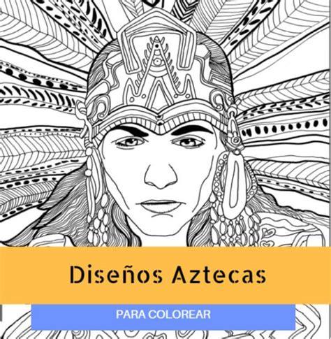 imagenes de penachos aztecas para colorear dibujos aztecas para colorear dise 241 os f 225 ciles y divertidos