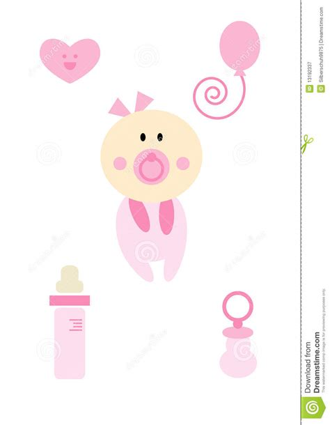 Kb Set Baby Pink clipart set baby pink stock vector illustration 13192337