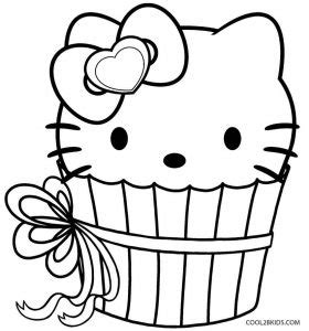 hello kitty cupcake coloring pages free printable cupcake coloring pages for kids cool2bkids