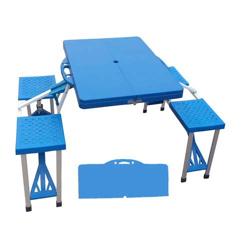 Plastic Folding Picnic Table Sports Outdoors Outdoor Adventure Cing Climbing Cing Furniture Folding