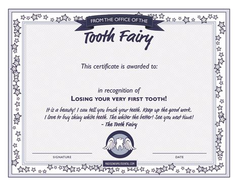 tooth fairy diy series tooth fairy certificate template
