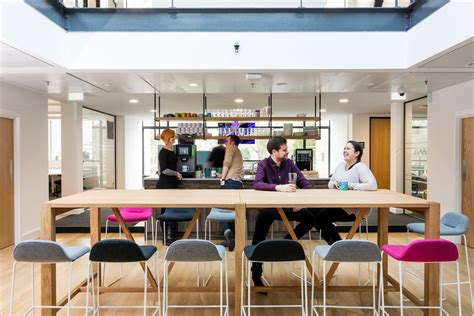office kitchen seating area office refurbishment specialists the south