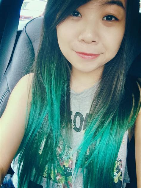 Manic Panic Lified Voodoo Blue Original ombr 233 hair with atomic turquoise