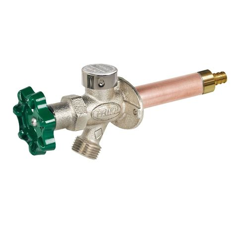 Freeze Proof Faucet With Anti Siphon Valve by Prier Products 1 2 In X 8 In Brass Crimp Pex Heavy Duty