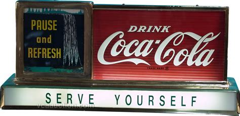 coca cola light up sign drink coca cola countertop glass light up sign