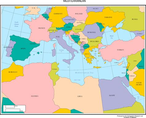 mediterranean countries map maps of europe