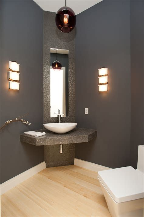 modern powder room design 10 gray rooms inspiration part 2 pursuit of functional home