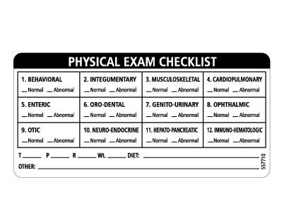 veterinary practice exam consent labels vetrimark