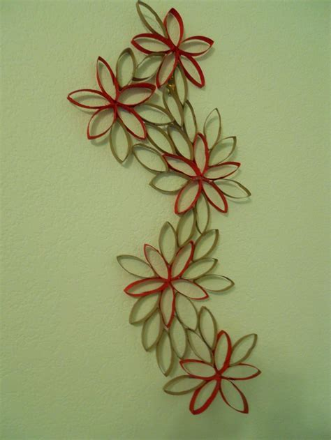 Paper Roll Arts And Crafts - flowers out of toilet paper rolls my arts and crafts