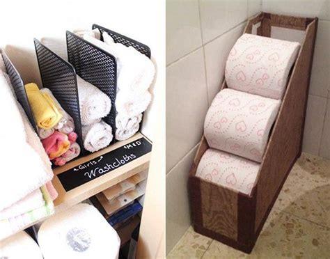badezimmer ordnung ideen ordnung halten mittels zeitschriftensammler deko ideen