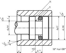 sedi o ring progetto sedi degli o rings per tenuta dinamica