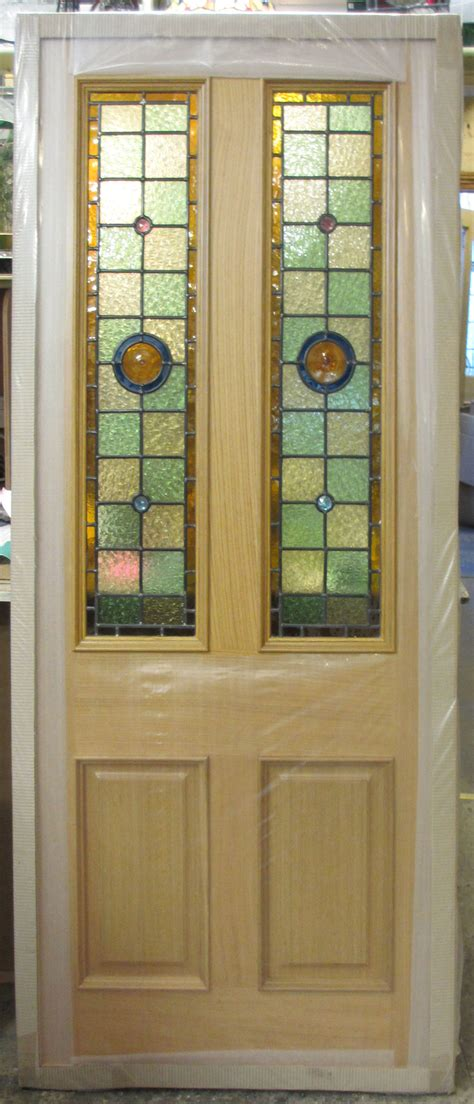 Pre Stained Interior Doors Pre Finished Oak Door With Leaded Lights
