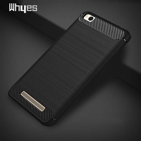 Xiaomi Redmi 4a Softcase Carbon Fiber whyes for xiaomi redmi 4a carbon fiber soft tpu heavy shockproof cover protector