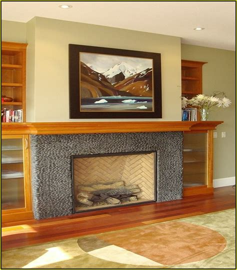 mosaic tile fireplace surround home design ideas