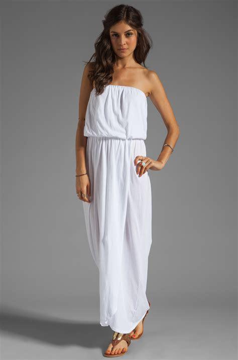 Maxy Dress Jersey Bunga velvet by graham spencer shivan sheer jersey maxi dress in white lyst