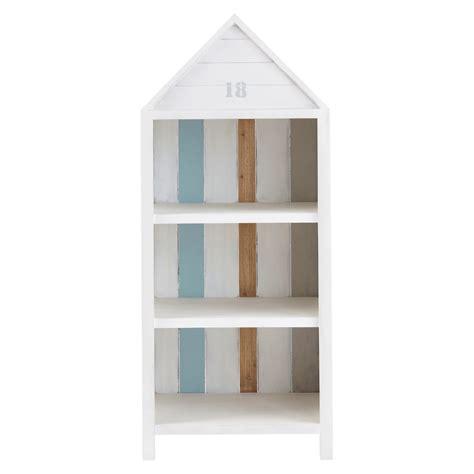 cabine da spiaggia libreria cabina da spiaggia bianco in legno l 60 cm oc 233 an