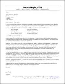 Cover Letter To Company by Cover Letter For A Company