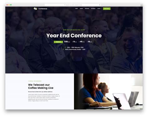 Conference Free Conference Event Website Template Colorlib Conference Website Template Free