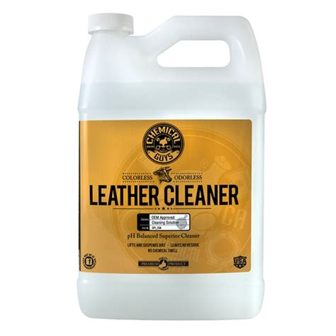 Leather Cleaning by Chemical Guys Leather Cleaner Colorless Odorless