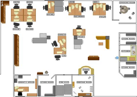 layout of the office in the office bbc comedy the office inside wernham hoog