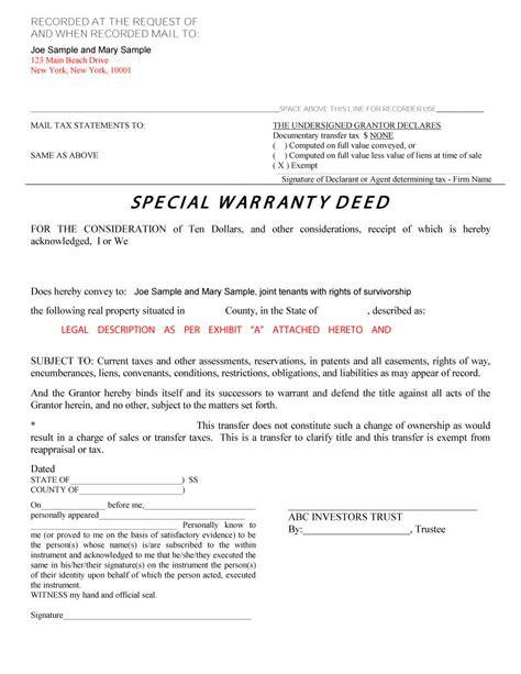 warranty deed form template 40 warranty deed templates forms general special