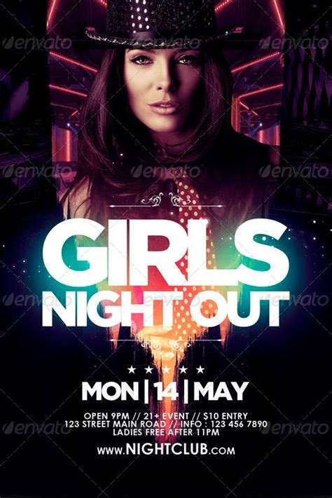 template flyer girl dance girls night out flyer template http www ffflyer com