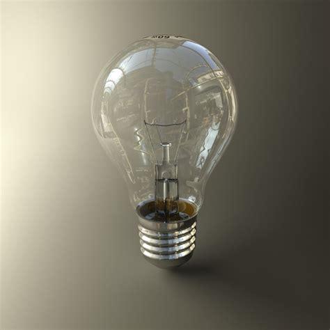fluorescent light 3d model incandescent lightbulb lighting 3d model