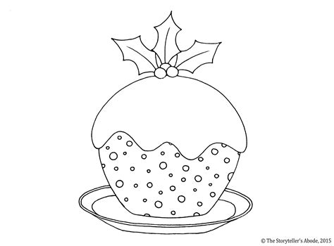 colouring pages christmas pudding christmas pudding sketch coloring page
