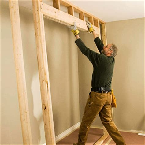 Framing For Closet Doors How To Install House Doors Diy How To Frame A Closet Door