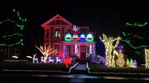 christmas light display ironton ohio youtube
