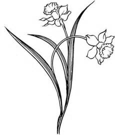 Daffodil Flower Outline daffodil outline cliparts co