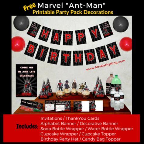 Free Marvel Ant Man Printable Birthday Invitation Templates Antmanevent Antman Disney Mrs Marvel Invitation Template Free