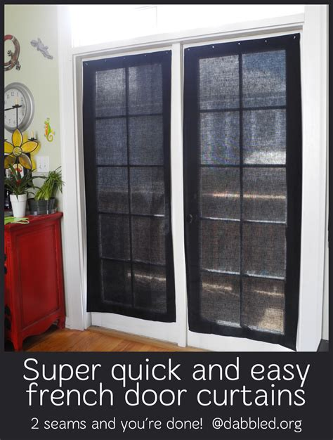 how to make french door curtains dabbled tutorial super easy inexpensive french door