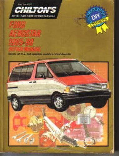 car repair manuals online pdf 1990 ford aerostar lane departure warning used chilton ford aerostar 1985 1990 repair manual