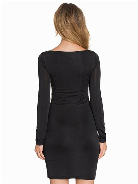 ah sharp cut lacing dress nly one black