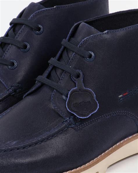 Kickers Neadle Casual Blue kickers kymbo moccasins blue boots shoe mens